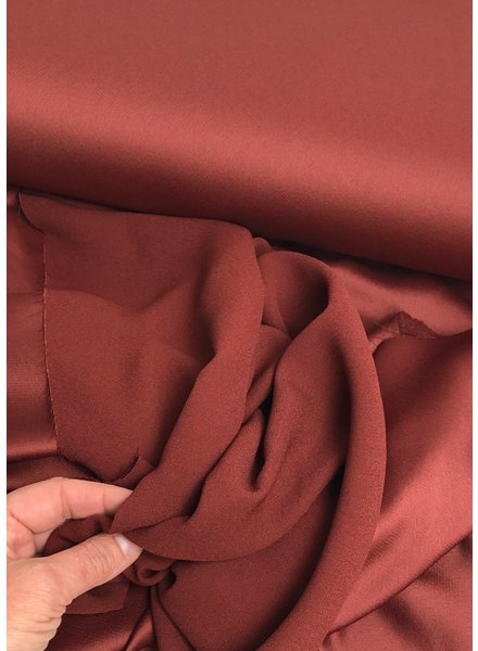burgundy crepe envers satin - limited edition