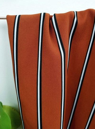 what about the stripes - supple polyester fabric