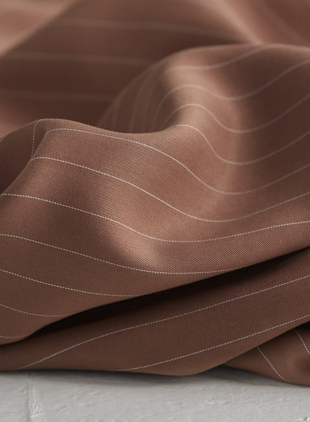 peanut - tencel pin stripe twill