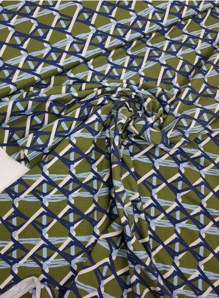 blauwe en groene kabels - tricot