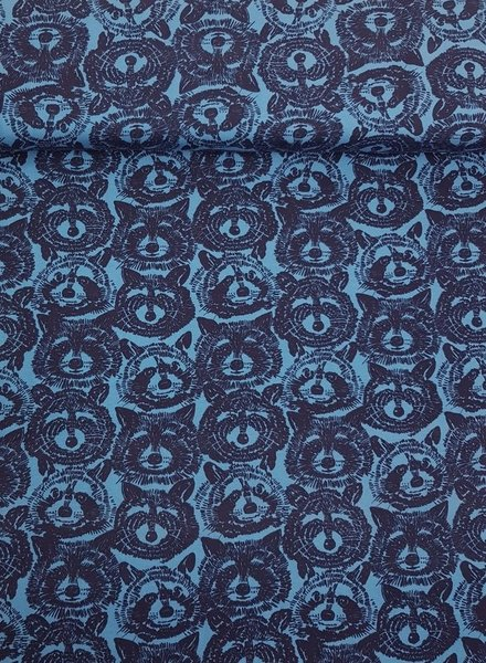 Alexander Henry blue Rocky raccoon - jersey