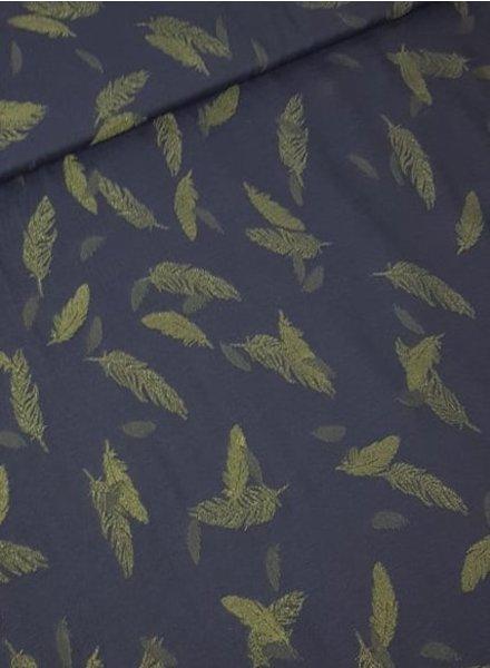 subtile feathers navyblue - viscose
