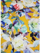 gele bloemen - satijn