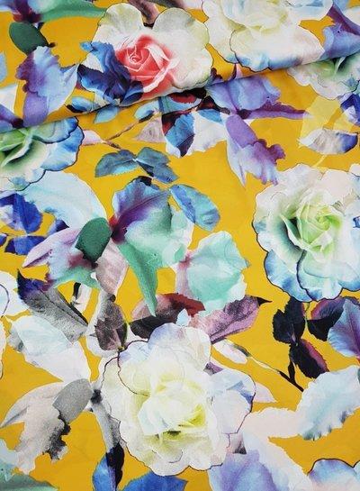 yellow flowers - satin