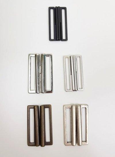 metalen gesp voor riem/elastiek 40 mm