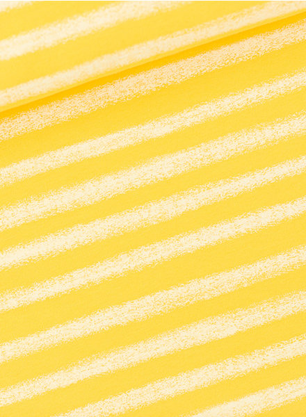 See You at Six Chalk Stripes - M - French Terry - Habanero Yellow
