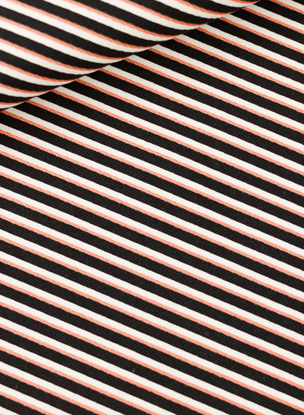 See You at Six Diagonals - Cotton Canvas Gabardine Twill - Black & White & Copper