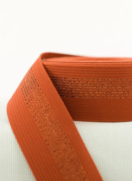 See You at Six elastische tailleband - roest met koperen lijnen - SYAS