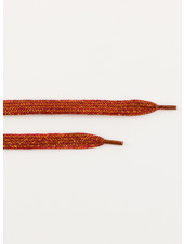 See You at Six Shoelaces - Spice Red with Gold Lurex
