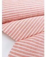 mandarin stripes -  washed linen mix
