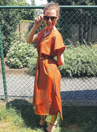 Bali jurk met streepjes