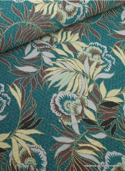 green leaves - woven jacquard deluxe