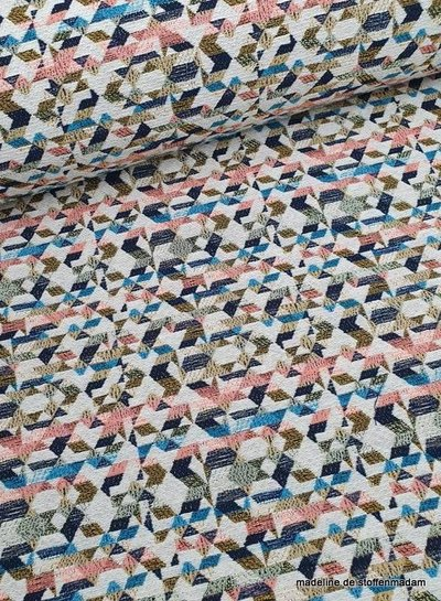 geometric soft colors - geweven jacquard