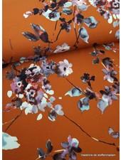 roest watercolor flowers - scuba crepe