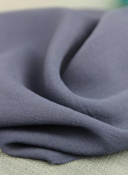 denimblauw - rayon linnenlook