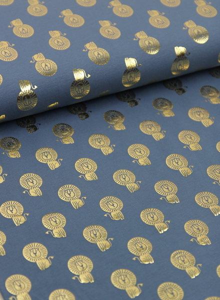 leeuwtjes foil blauw  - tricot