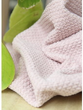dusty pink gewafelde badstof - zacht deluxe
