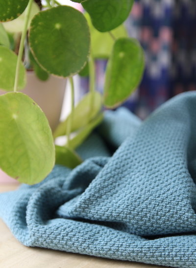 dusty mint - waffled terry fabric - zacht deluxe