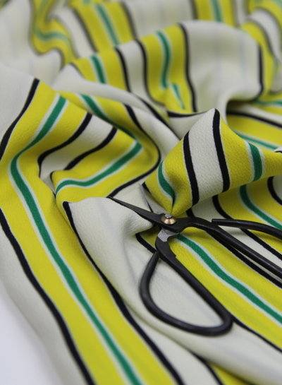 stripes yellow - crêpe