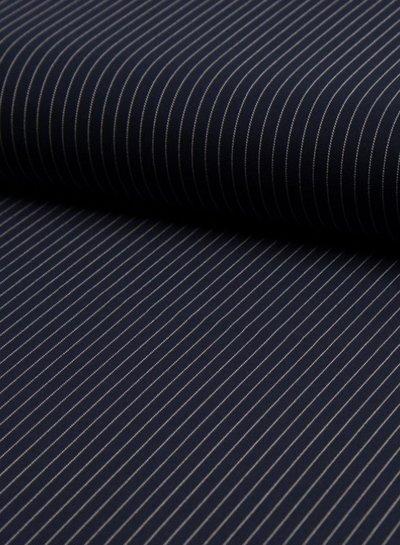 streepjes small marine - soepelvallende stof