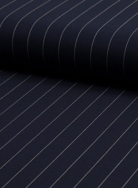 pinstripes large - polyester fabric