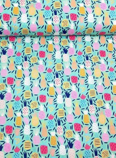MULTI pineapple - cotton