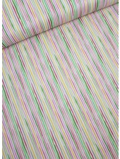 watercolor stripe katoen
