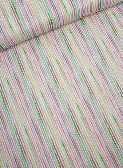 watercolor stripe katoen