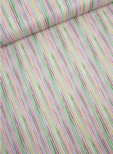 watercolor stripe coton