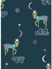 ART GALLERY FABRICS Lugu Donkey - katoen