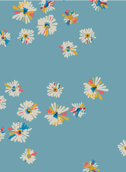 ART GALLERY FABRICS Hazy daisies sky - cotton