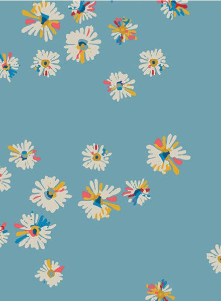 ART GALLERY FABRICS Hazy daisies sky - katoen