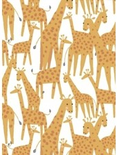 Dear Stella Giraffes white - katoen