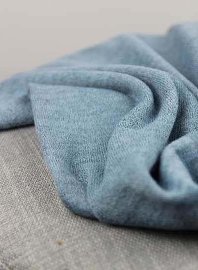 knitted fabric lurex  - blue