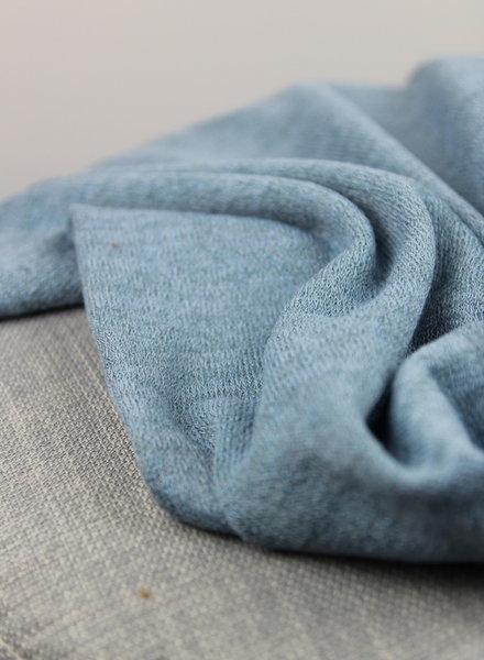 gebreide stof met lurex  - blauw