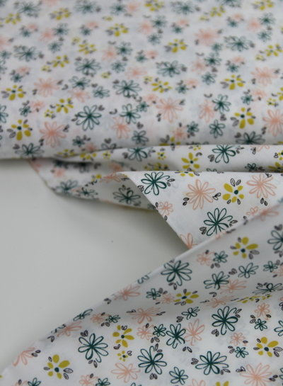 printed flowers - katoen