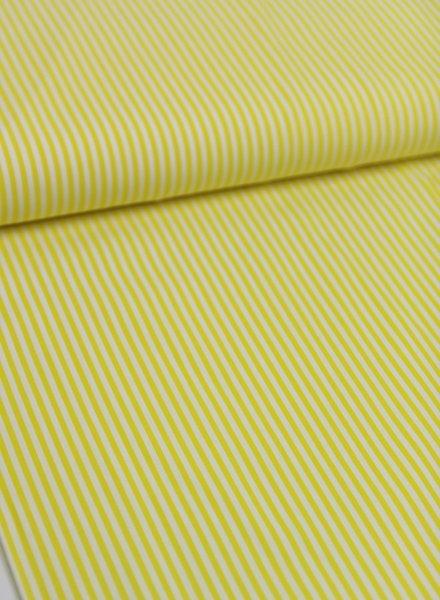 geel gestreept - katoen