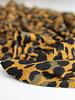 oker leopard - gebreide stof
