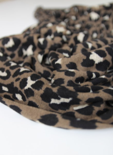 taupe leopard - knitted jersey
