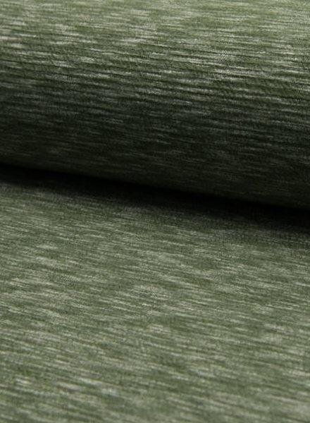 khaki gemeleerde structuurtricot - stevige kwaliteit
