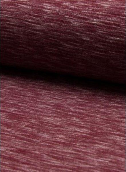 burgundy  textured knit