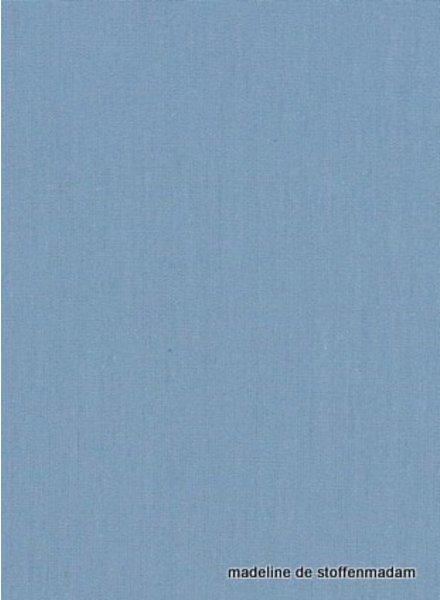 licht indigo blauw effen katoen