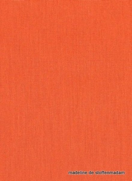 oranje effen katoen