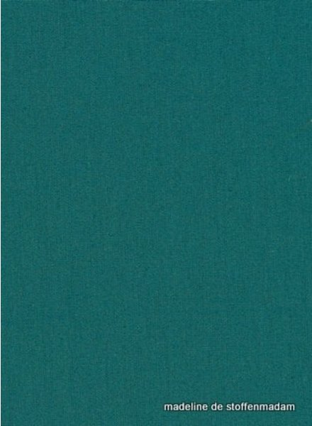 solid cotton petrol green
