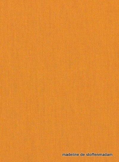 abrikoos effen katoen