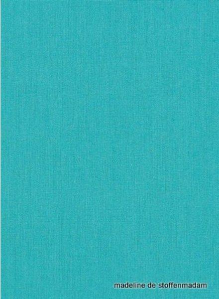 turquoise effen katoen