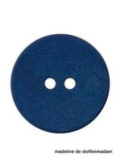 15mm ecologisch gekleurde knoop blauw