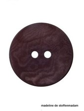 15mm ecologisch gekleurde knoop bruin
