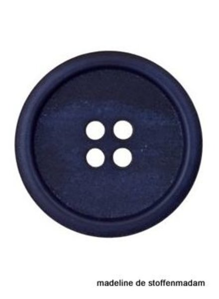 18mm knoop uit gerecycleerd papier blauw