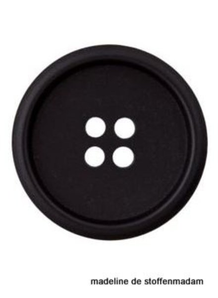 18mm button recycled paper black